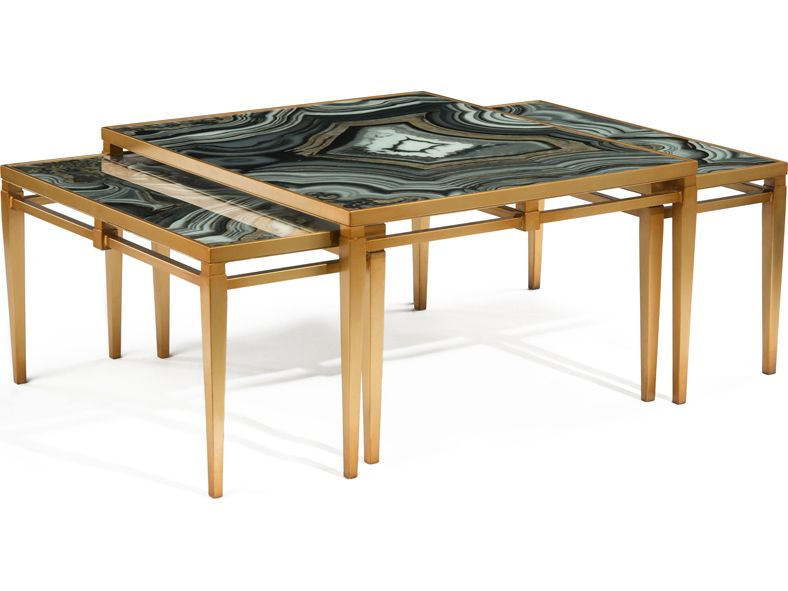 John Richard Agate 36 X 31 Rectangular Cocktail Coffee Table Coffee Table Furniture Coffee Table Square
