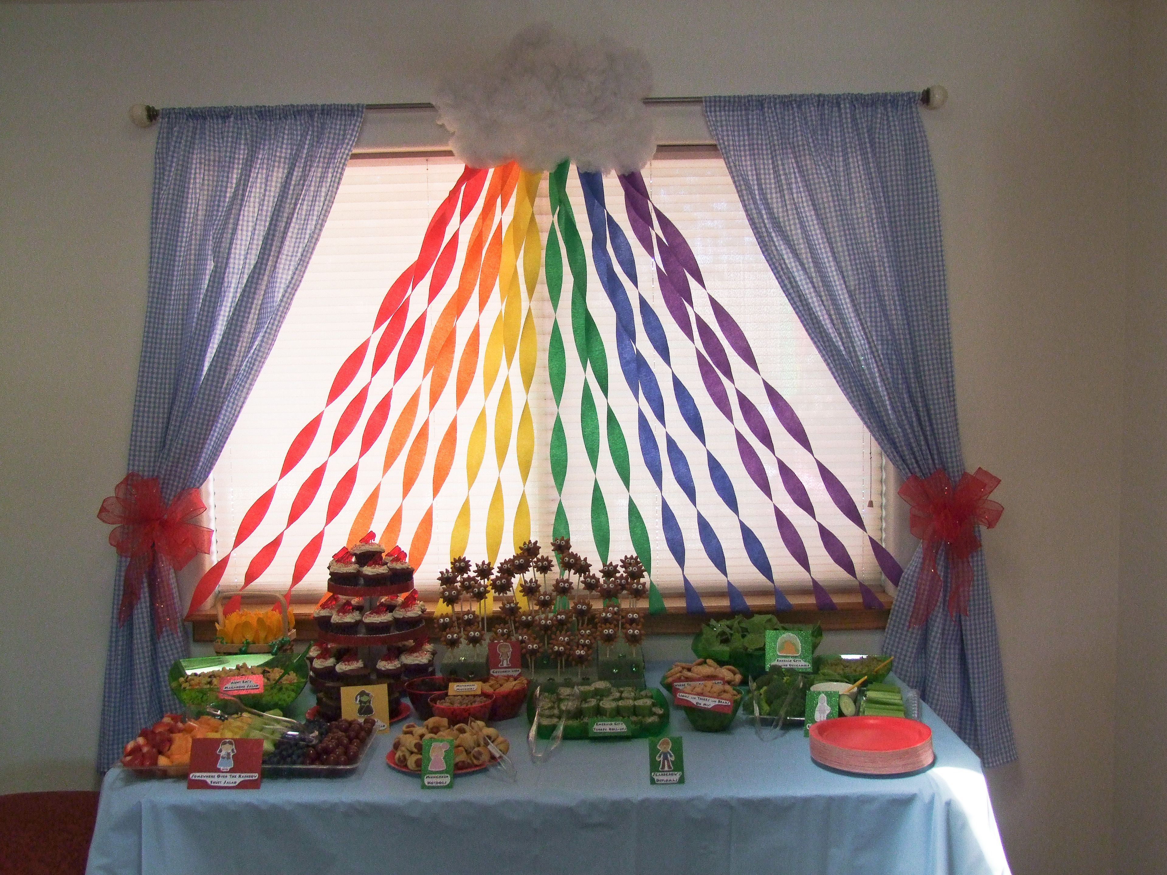 Wizard Of Oz Party Simple Streamer Rainbow Backdrop Rainbow