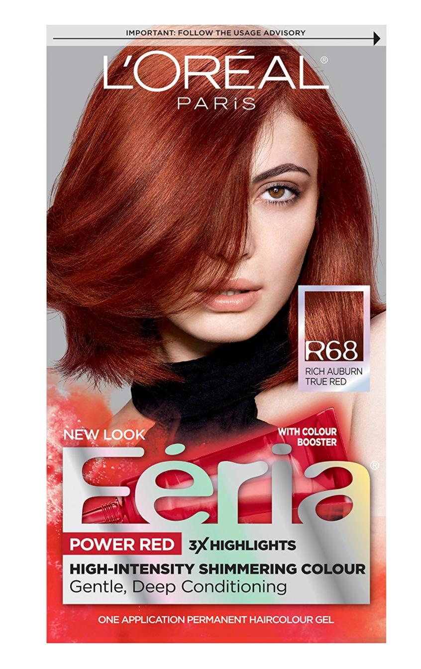 Feria R68 Rich Auburn True Red Auburn True Red Hair Color