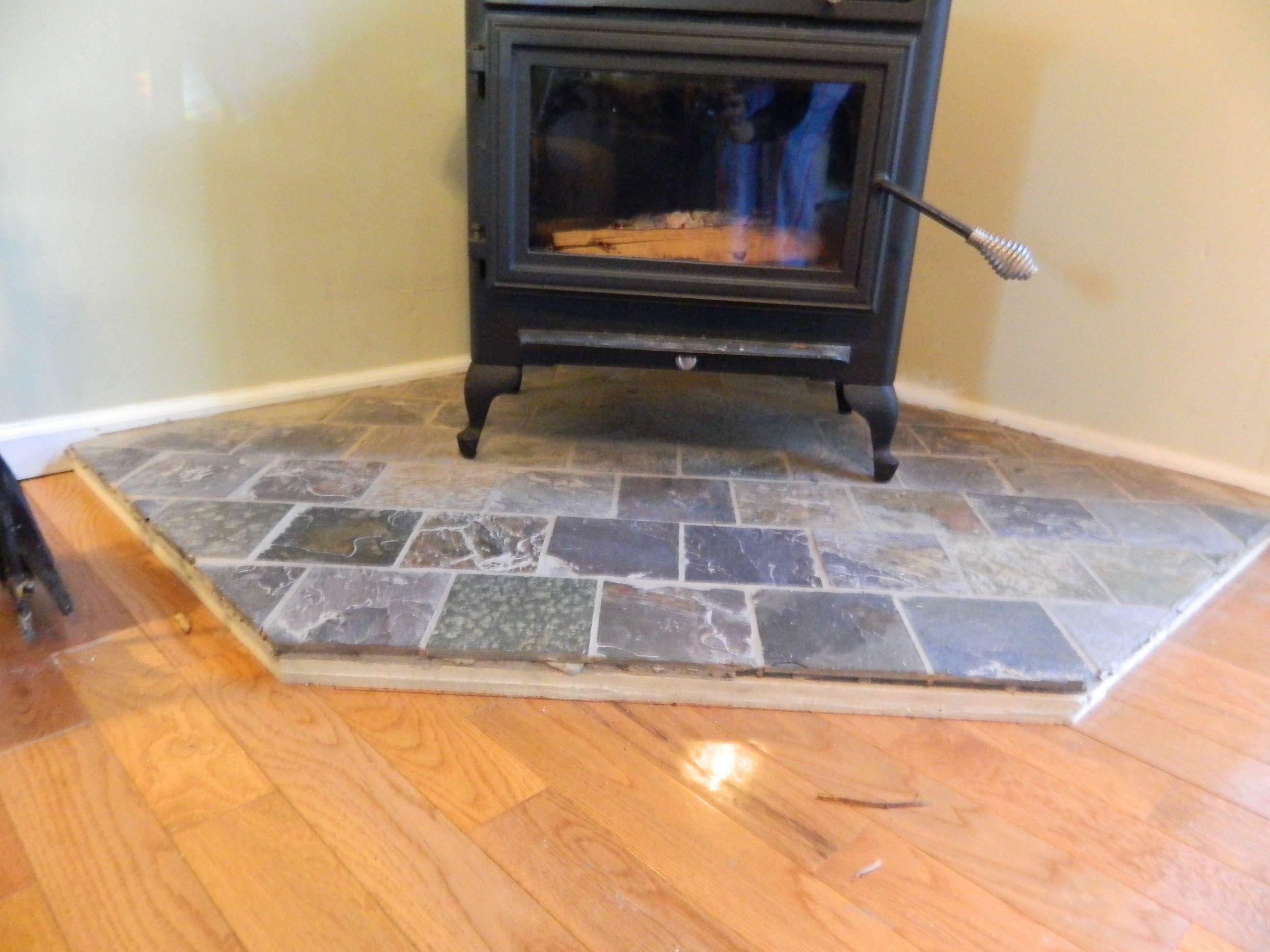 woodstove surround | value vs. K=factor Hearth pads (hardwood ...