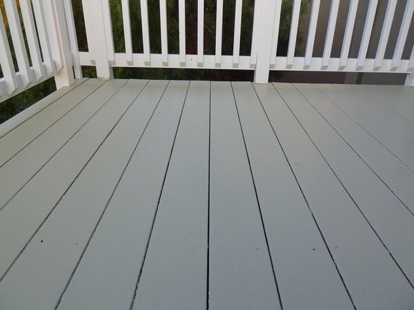 Deck Painting Grey Green And White