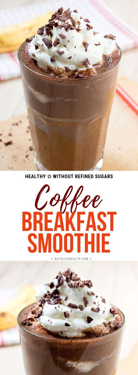 This creamy Coffee Breakfast Smoothie is full of dark