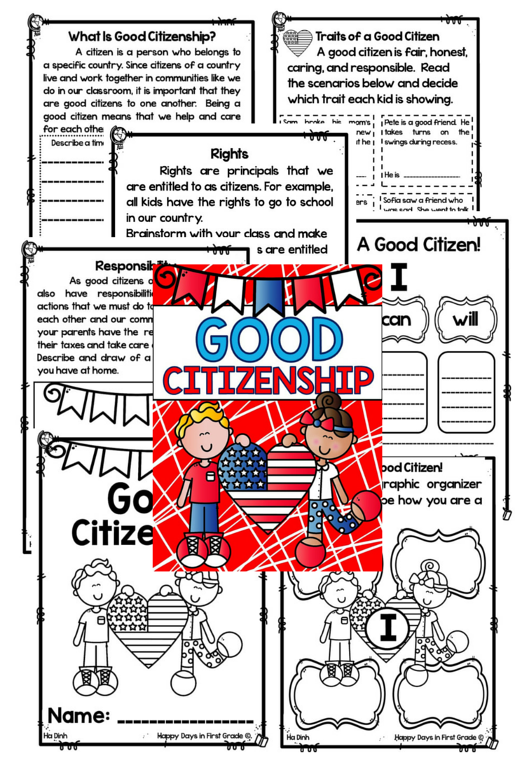 Citizenship Good Citizenship 1st 2nd 3rd Grade