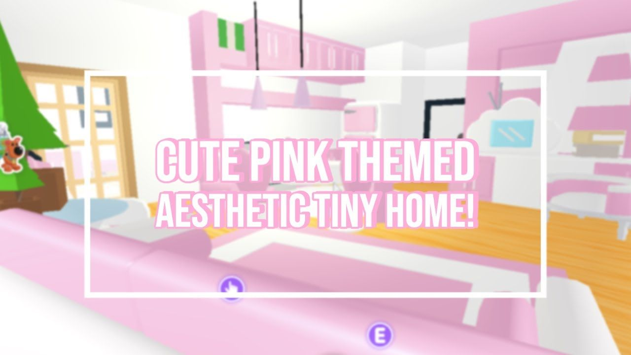 Adopt Me Cute Pink Themed Aesthetic Tiny House Speed Build Tour Easy Building Hacks Roblox Youtube In 2020 Cute Room Ideas Cute Bedroom Ideas Roblox