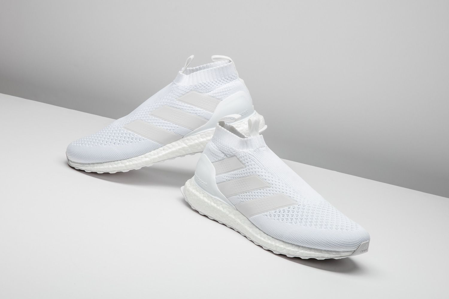f3ce61d85 The adidas ACE 16+ Purecontrol Ultra Boost in the icy white colorway is a  fall winter essential.  adidas