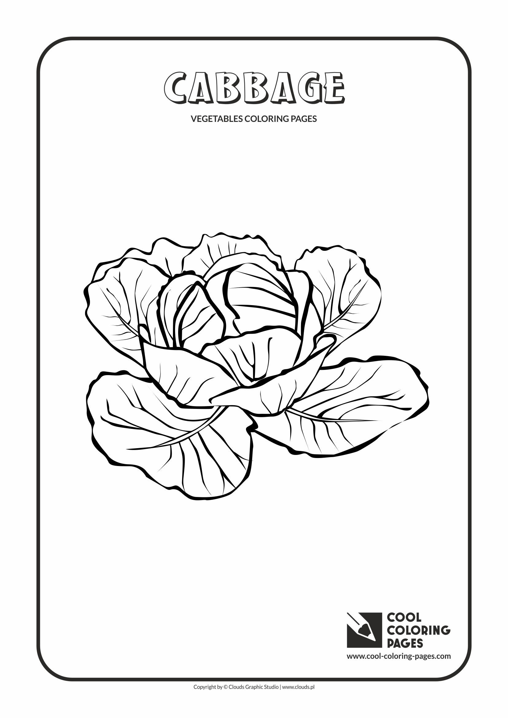 Colouring pages of cabbage - Cool Coloring Pages Plants Cabbage Coloring Page With Cabbage