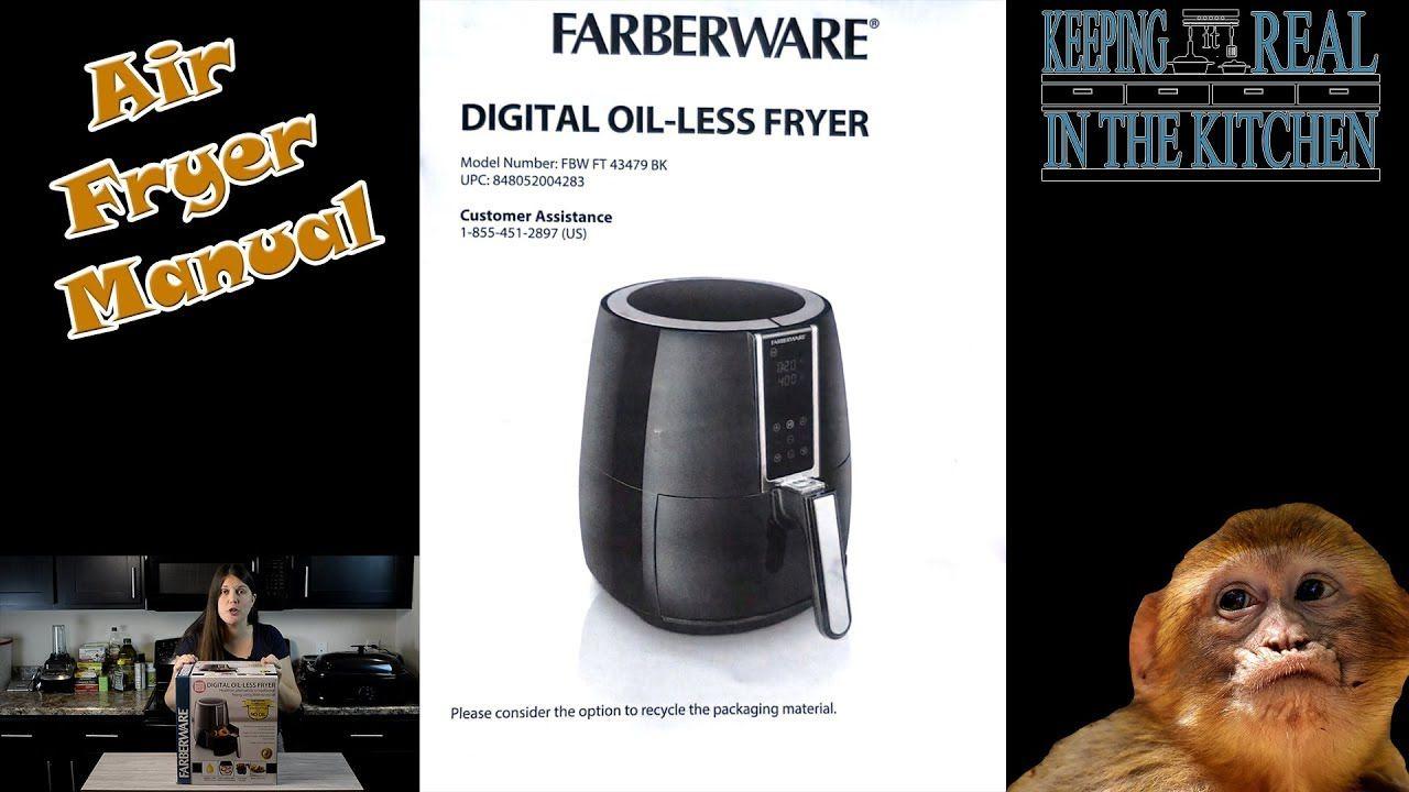 Farberware Digital OilLess Fryer Manual FBW FT 43479 BK