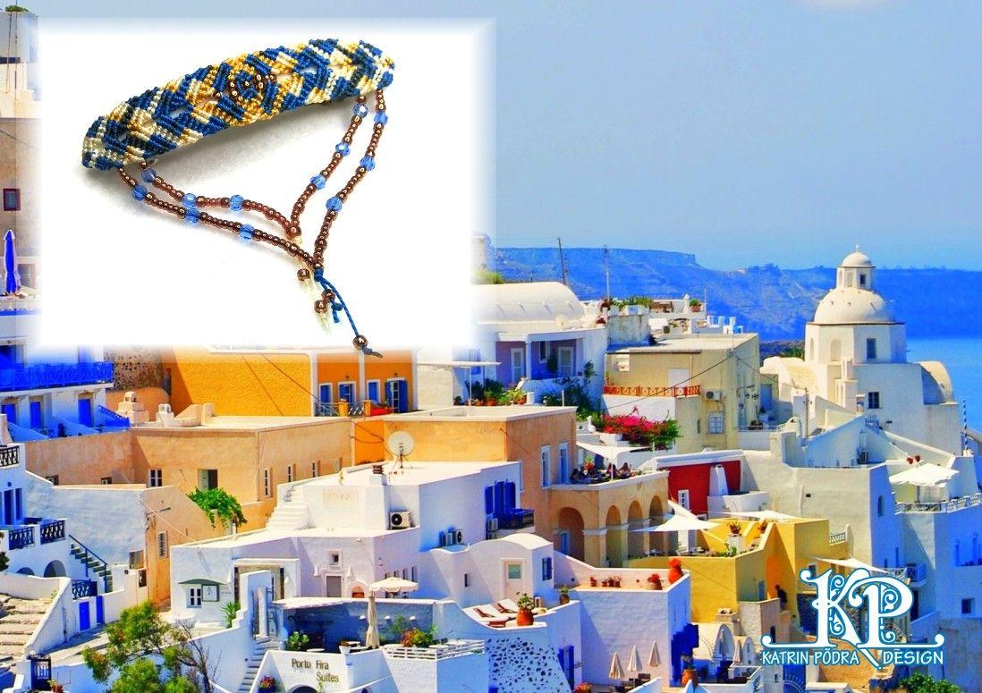 "Hairclip ""Santorini moods"""