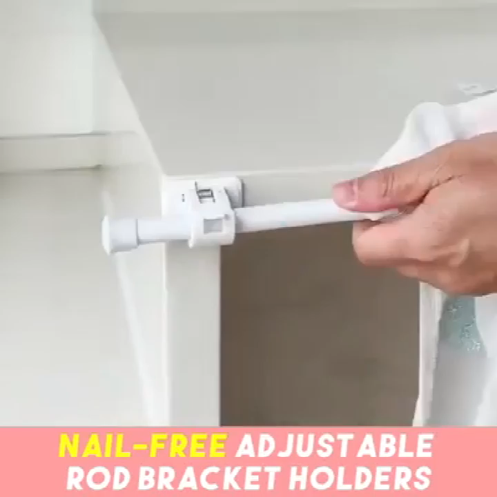 Self Adhesive Hooks Rod Bracket 2pcs Video In 2020 Diy Home