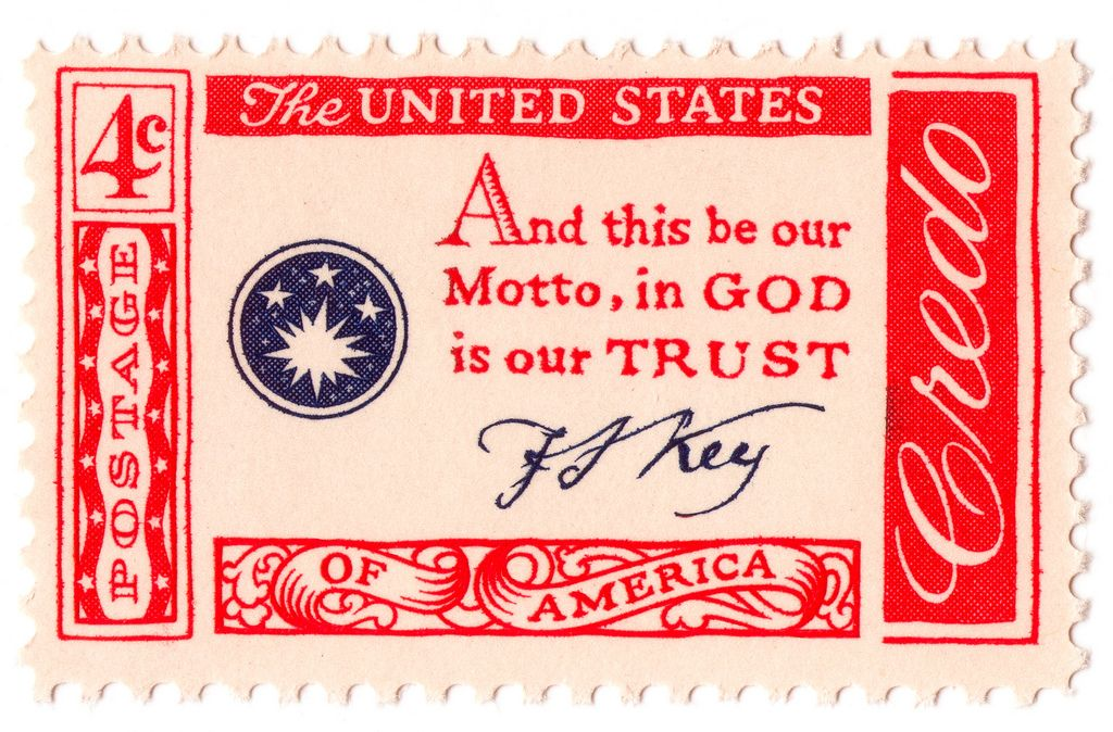 And this be our motto 1960 stamp usa stamps in god