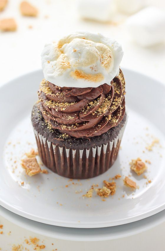 Nutella Stuffed S Mores Cupcakes Recipe With Images Cupcake