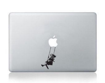 Banksy Girl Balloons Vinyl Wall Decal/Sticker - Decor for laptop, car, wall, window, mirror, etc  - Niña -