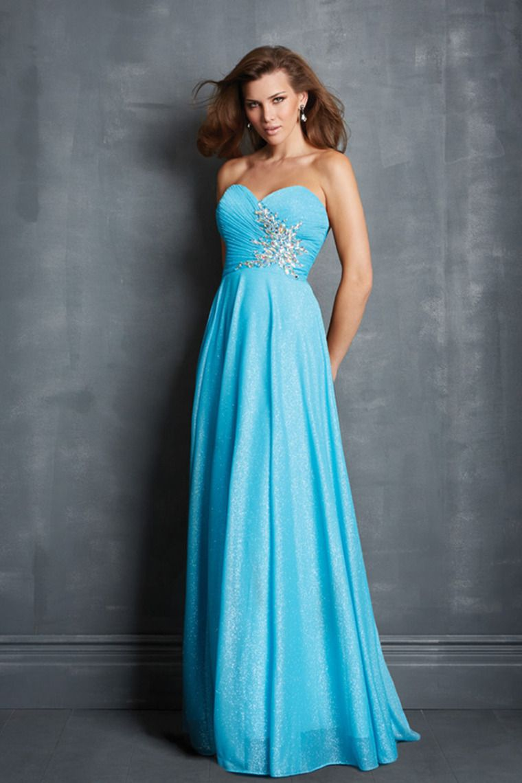 Prom Dresses Sweetheart Princess Floor Length Pleated Bodice ...