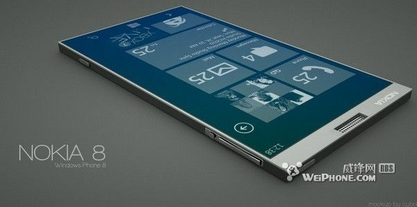 Nokia 8 Concept Phone - Windows Phone 8 With 5 Inch Display