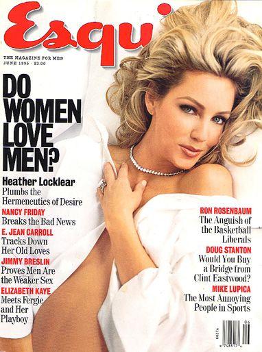 ESQUIRE Magazine June 1995 Heather Locklear cover damage