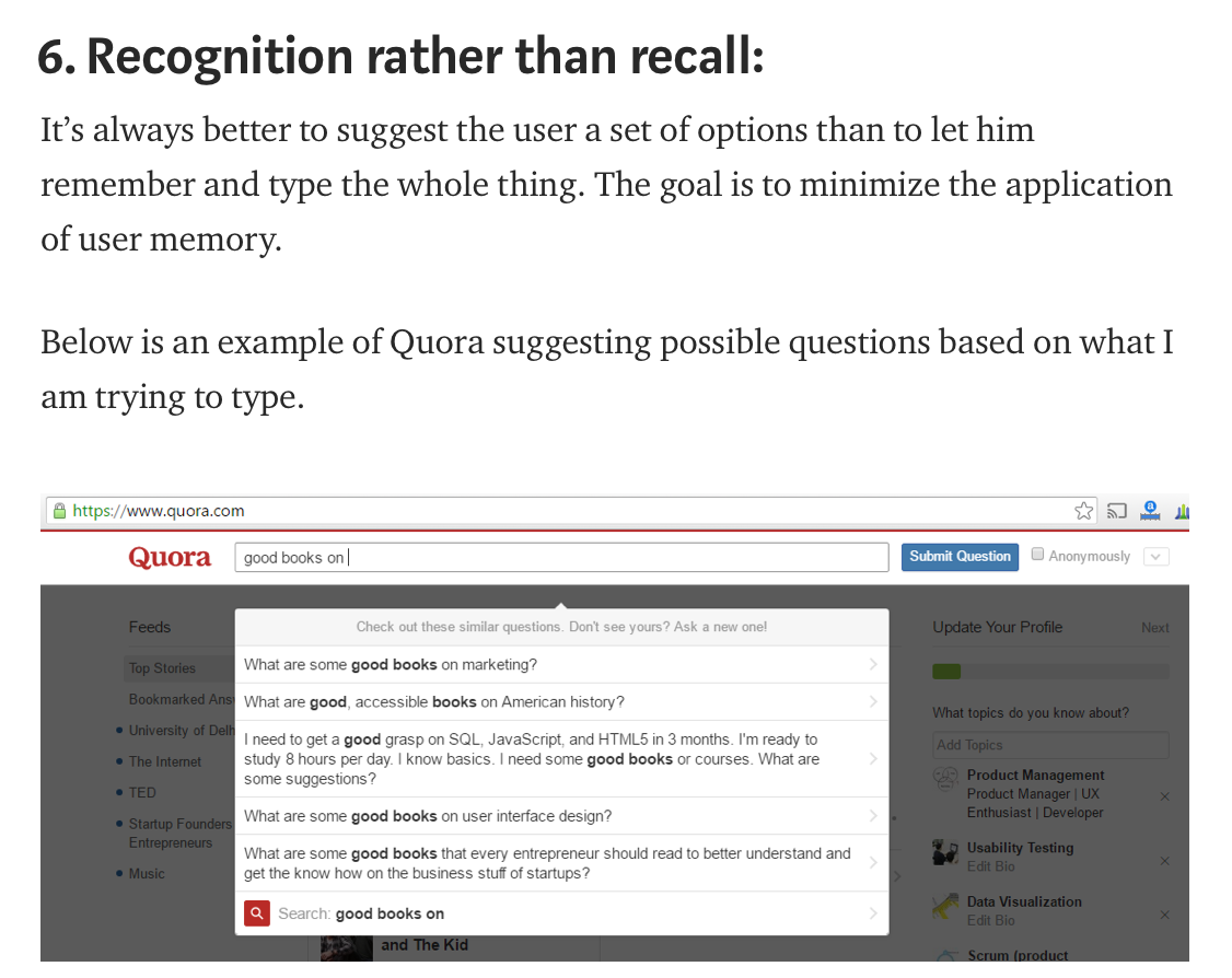Heuristic Recognition Recognition This Or That Questions Principles