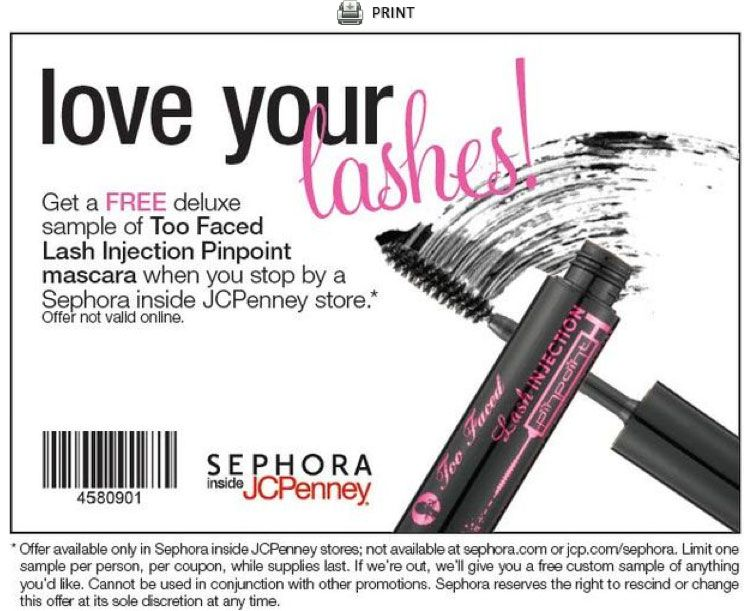graphic relating to Sephora Printable Coupons called JC Penney Sephora coupon Discounts Steals Printable