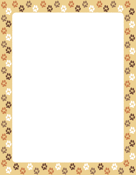 Pin by hildelena calderon bravo on borders frames 1 paw print background dog frames - Paw print wall border ...