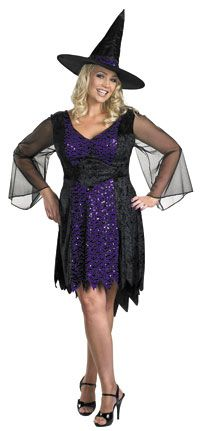 Halloween Costumes Women Plus Size  Disguise Women s My Brilliantly  Bewitched Women Plus Size Costume 8d2ea2af195e