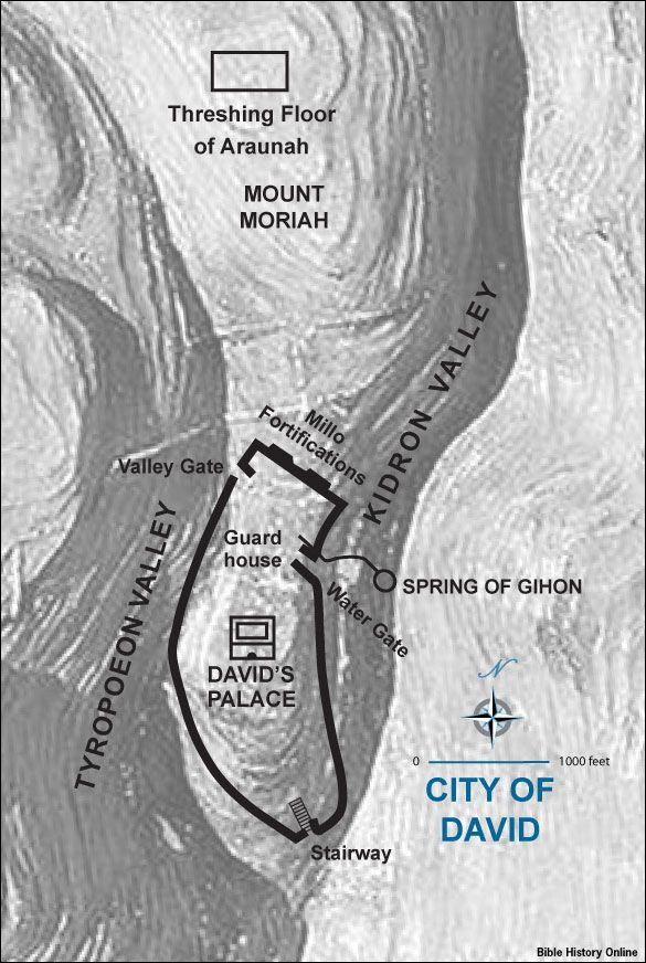 Map Of Zion And The City Of David Bible Maps 2 Samuel