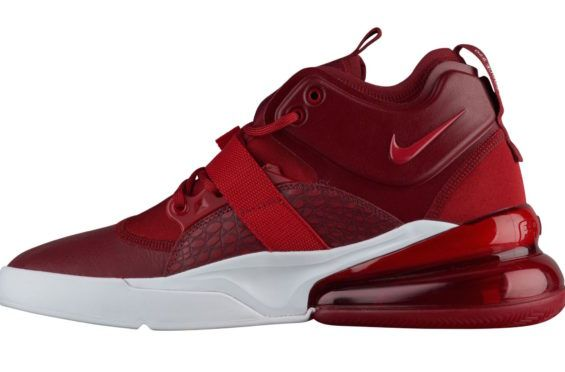 d1a93e7096 The new Nike Air Force 270 just released in wolf grey, and it's already  previewed in one of its upcoming colorways with this tonal red edition. The  b
