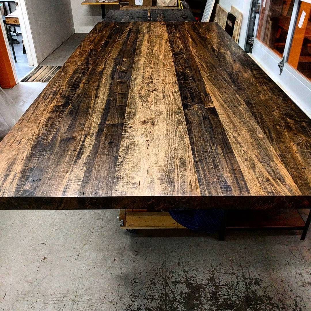 Captivating Ambrosia Maple Table Top Just Finished By Barnboardstore.com   For This One  We Used