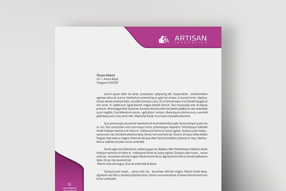 Letterhead Personal Letterhead Letterhead Word File