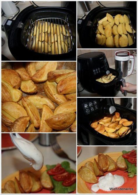Philips Airfryer - Country - Potatoes oder auf gut Deutsch: Kartoffelspalten #kartoffeleckenbackofen