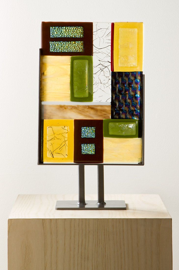 Fused Glass Totem - Earth, Sculpture, Home Furnishings - The Museum ...
