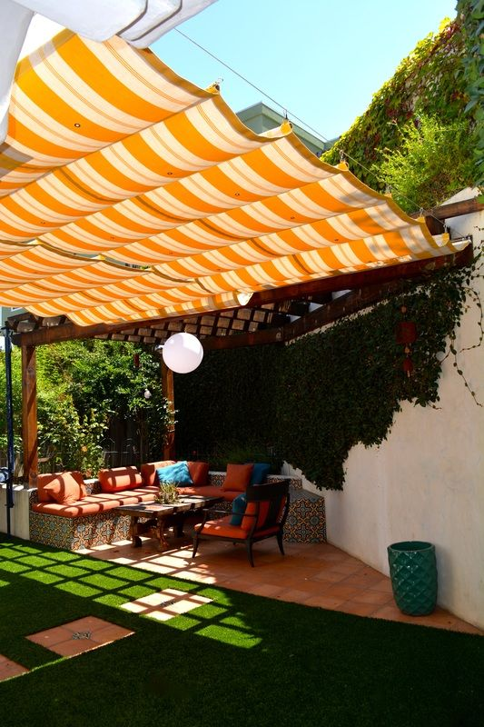 Innovative Retractable Awning Ideas, Retractable Canvas Patio Awnings