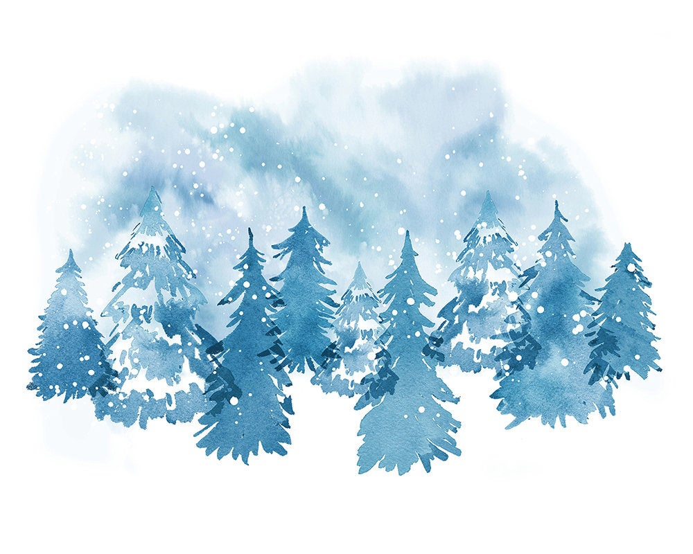 Winter Wonderland Christmas Trees Art Print Digital Download Etsy Winter Wonderland Background Winter Wonderland Wallpaper Christmas Tree Art