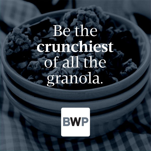 Because the crunchiest granola is always the best, am I right? #MotivationMonday | Be Well Philly