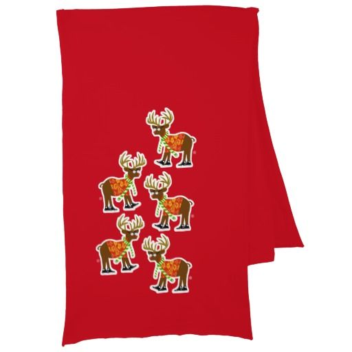 Hipster Reindeer Scarf Wrap. #reindeer #christmas #happyholidays