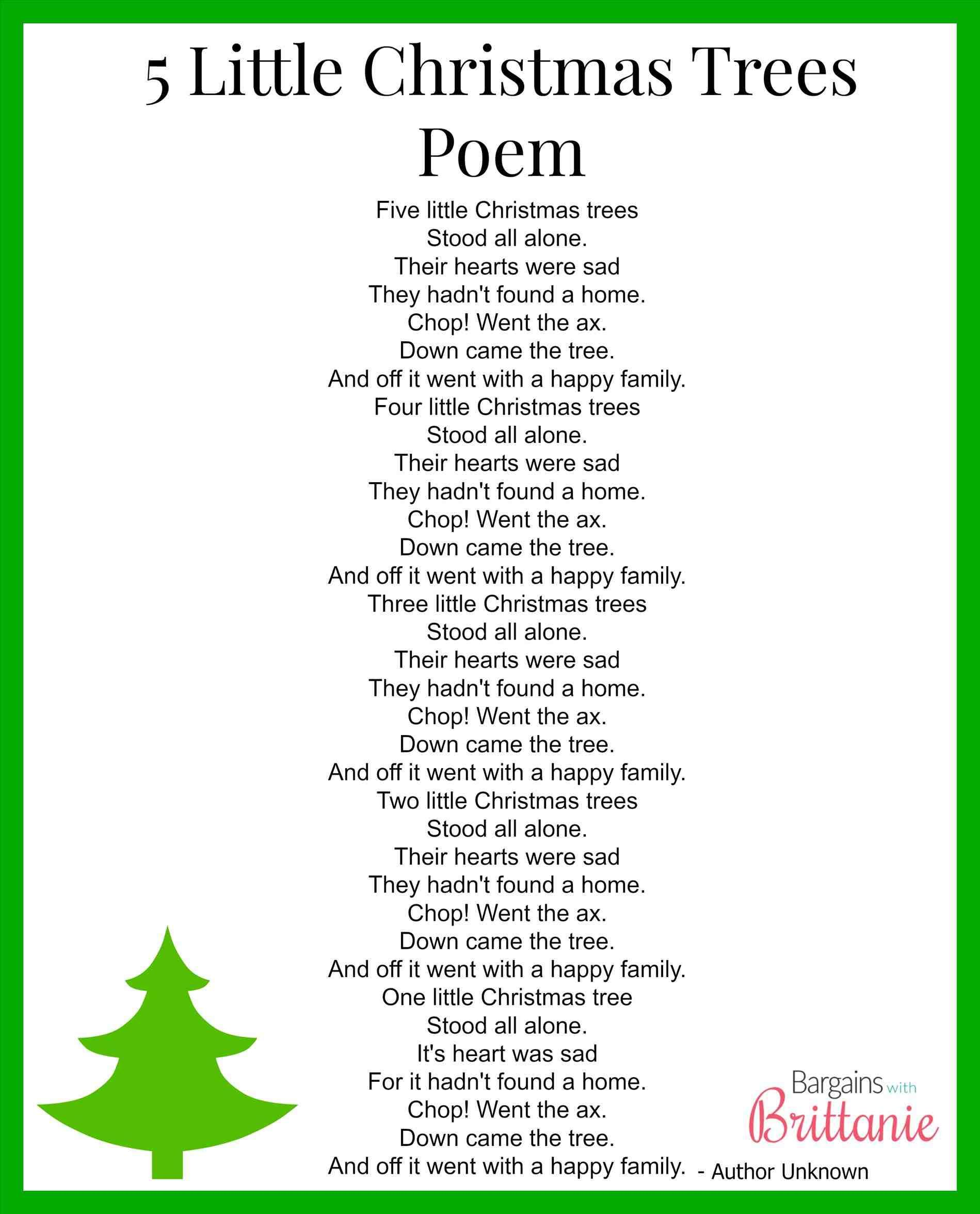 New Post Short Christmas Tree Poems With Images