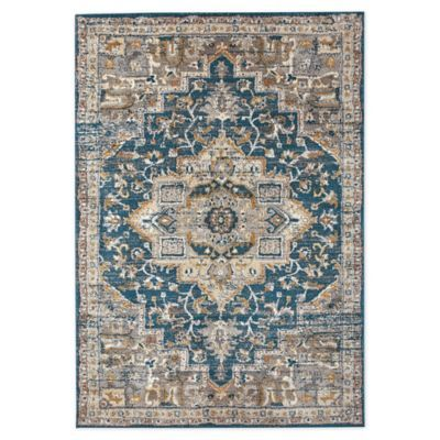 Bee Willow Home Bedford Medallion 5 X 7 Area Rug In Blue Grey