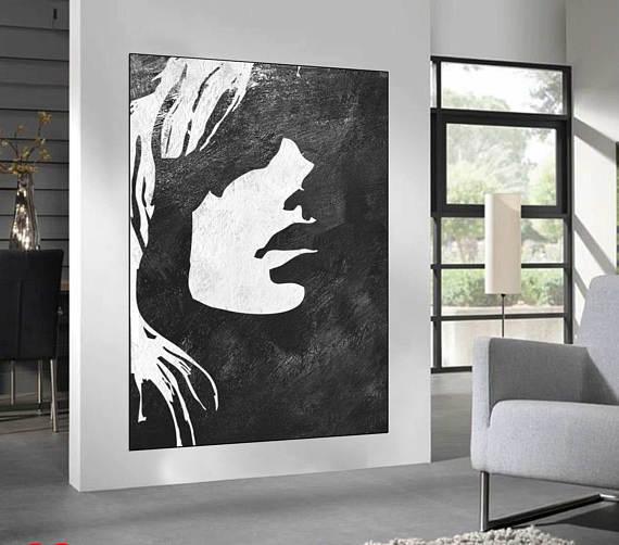 black white minimalist abstract