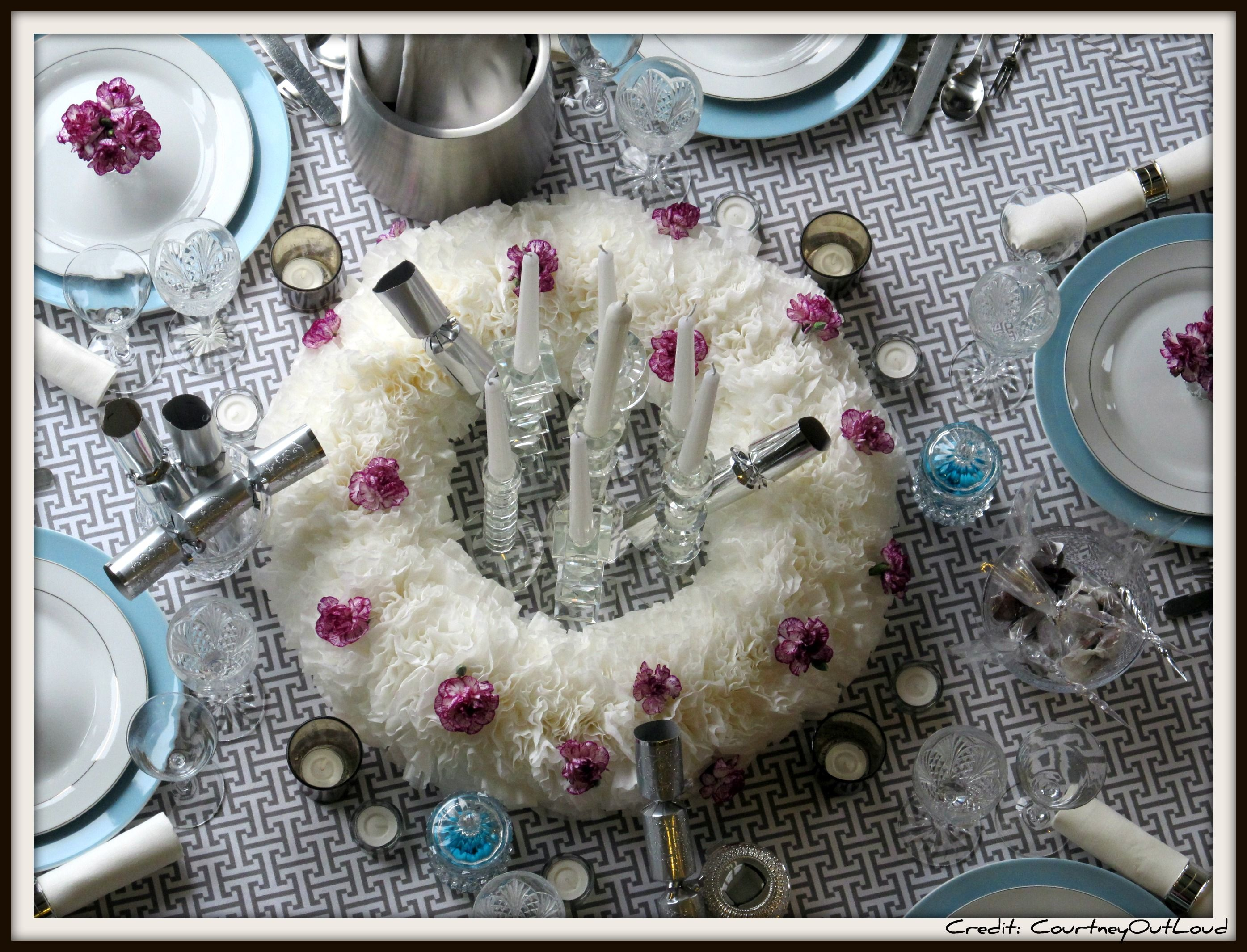 Happy New Year! Dinner party table settings, Dinner