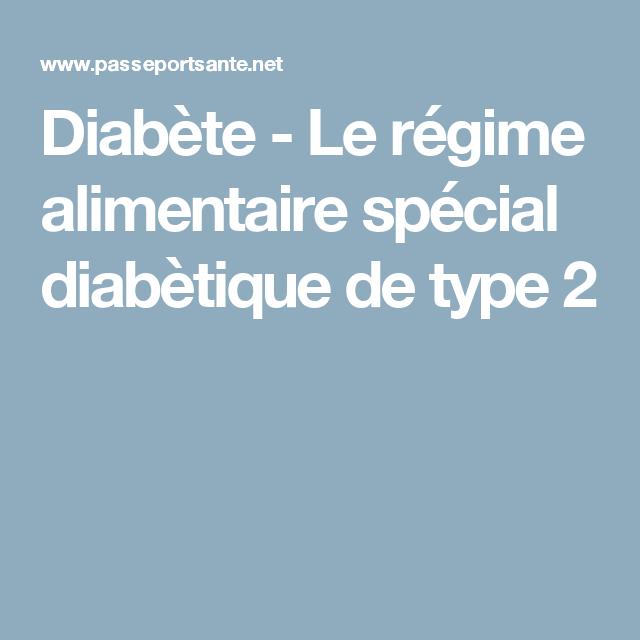diabète type 2 régimes