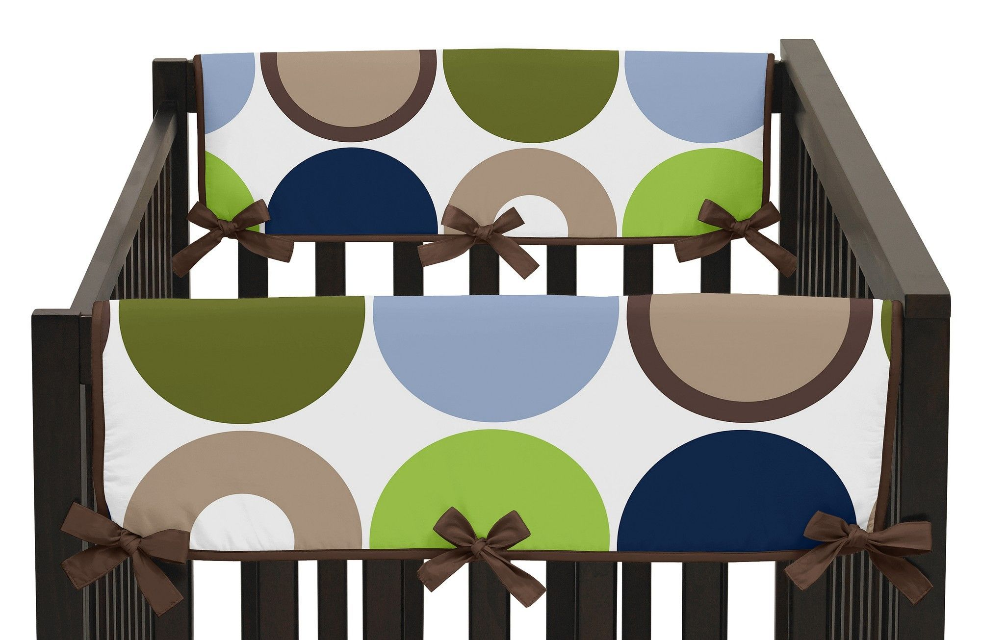 Designer Dot Side Crib Rail Guard Cover