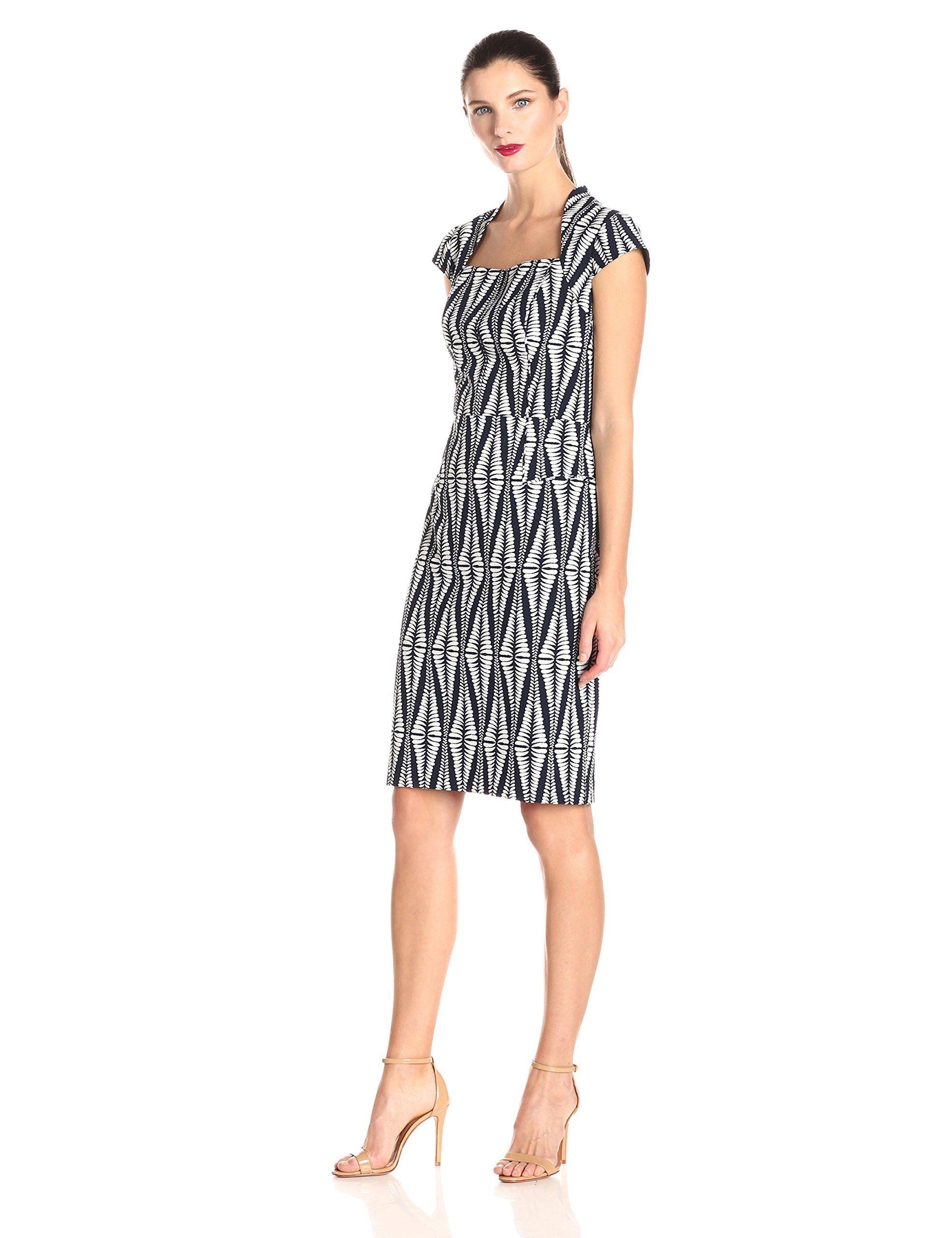 8e2236fb9bd Adrianna Papell Women s Printed Sheath Dress at Amazon Women s Clothing  store
