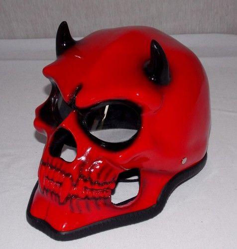 Devil Evil Mephisto Airbrush Motorcycle Helmet Satan | What's In My