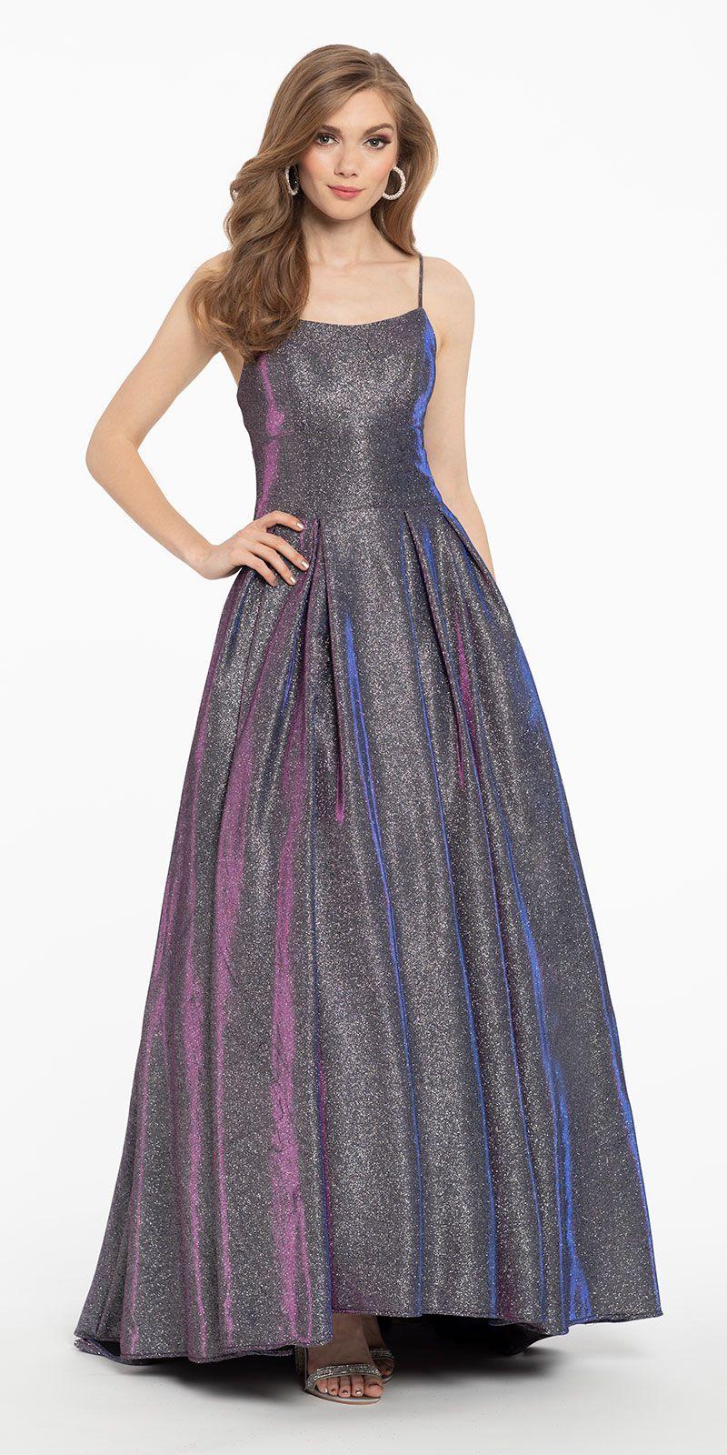 Two Tone Shimmer Slip Ballgown Ball Gowns Ball Gown Skirt Elegant Dresses