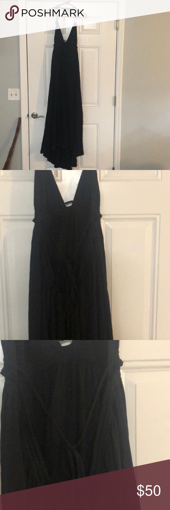 Victoria Secret Black Maxi Halter Beach Coverup Black Maxi Black Maxi Dress Victoria Secret [ 1740 x 580 Pixel ]