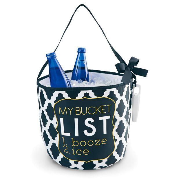 "Mud Pie® ""My Bucket List"" Bucket Cooler Tote"
