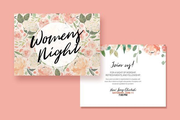 Womens Event Postcard Creative Card Templates Creative Card - Event postcard template