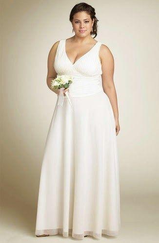 vestidos para novias bajitas y gorditas