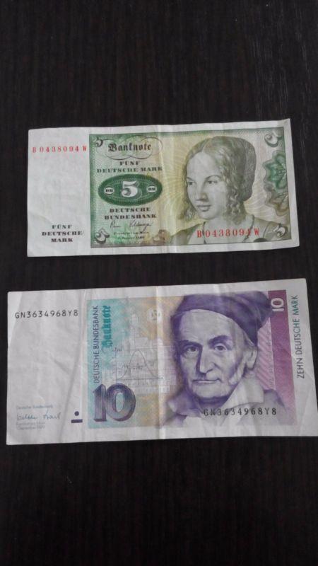 Banknote L12 10 Deutsche Mark 5 Deutsche Mark Bank Notes Deutsch Marks