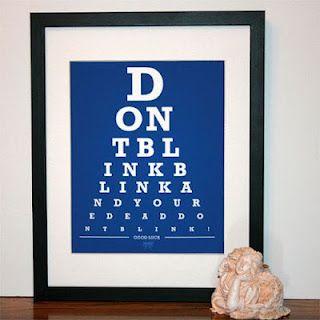 Doctor Who eye chart