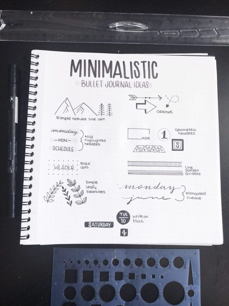 9 Quick and Easy Ways to Decorate Your Minimalist Bullet Journal - Planning Mindfully