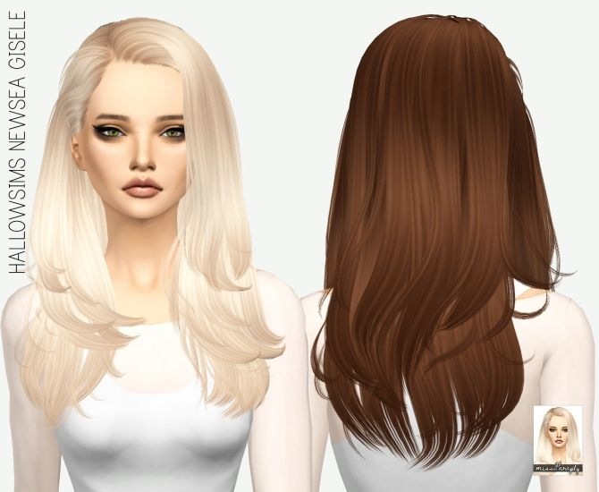Hairstyles Updates: HALLOWSIMS NEWSEA GISELE SOLIDS At Miss Paraply • Sims 4